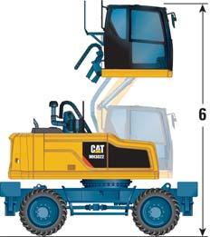 MH3022 Wheel Material Handler Specifications Dimensions With Standard Undercarriage* All dimensions are approximate.