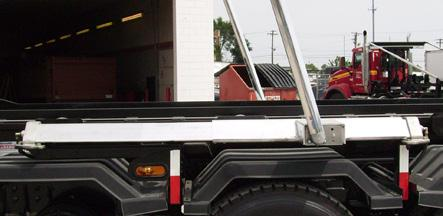 For Single Axle Trucks with Same Size Containers Integrated Housing, Stationary Powder-coated Tower, Single