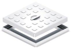 Pedestrian Access Covers & Frames A range of light duty single seal covers and frames, manufactured from pressed sheet steel with welded joints.
