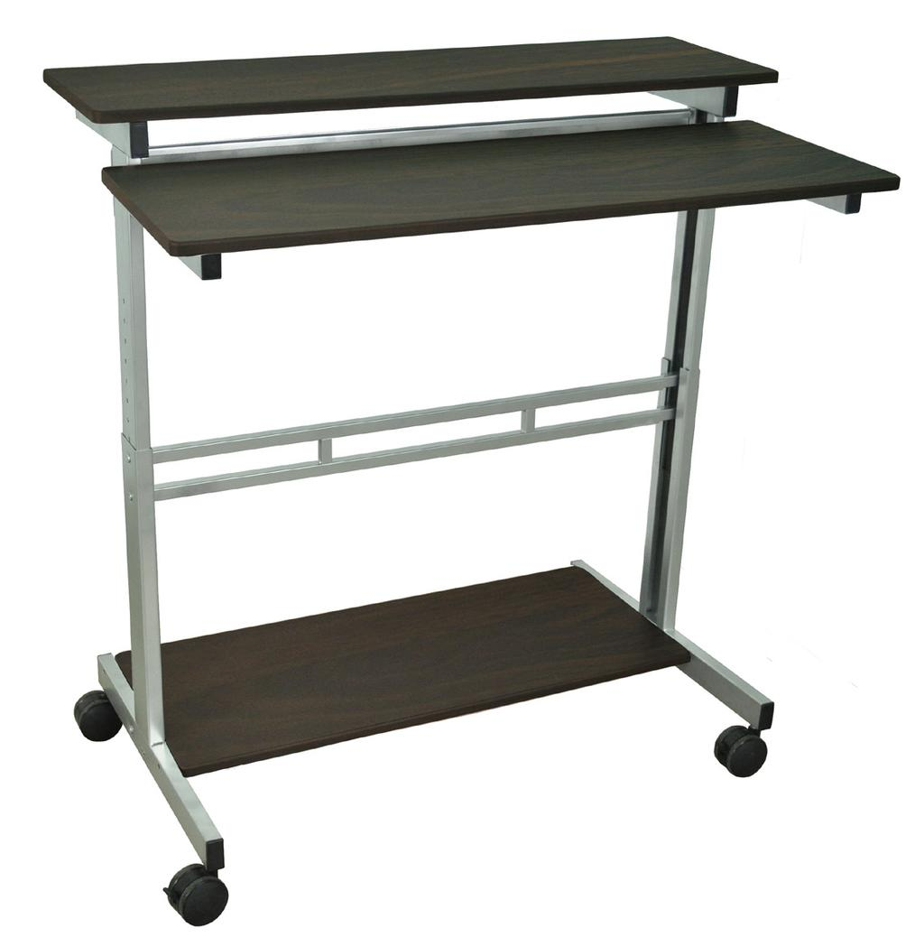 electrical assembly Shelf -B STANDUP-31.5-B Overall dimensions of 31.5 W x 29 D x variable height Upper shelf measures 31.5 W x 14 D with 34-46 H adjustable height range Lower shelf measures 31.