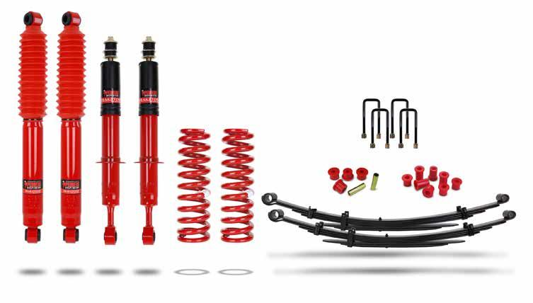 TrakRyder Outback (up to 2 or 50mm lift) The spring and shock absorber rates were developed to provide improved ground clearance and increased suspension travel, while improving vehicle stability on