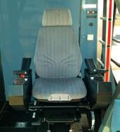 The EMS electronic monitoring system, the control levers and the driver s seat are well matched to form a perfect ergonomic unit. Air conditioning is available as an optional extra.