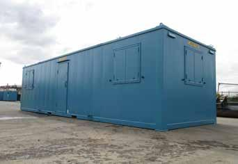 16 HIGH SECURITY ACCOMMODATION Our range of heavy duty steel High Security Accommodation is finished to a high standard suitable for offices and we provide a wide range