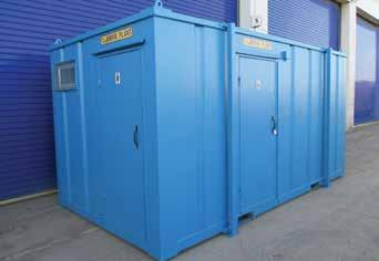 18 HIGH SECURITY TOILET AND SHOWER UNITS We offer heavy duty steel High Security Toilet Units in a range of popular layouts, e.g. 2+1 and 3+1 and we have straight 2- and 3-WC units.