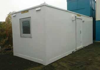 Unit into place using a pick-up truck. We offer 12 and 16 mobile units for use as offices, canteens and changing rooms. Units are fitted with secure steel doors and window shutters.