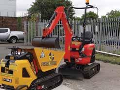 Powerful Mini Excavator, Excellent Dig Depth and Tipping Height, Offset Boom, Hammer and 2-way Aux Circuit.