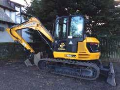 5Ton Midi Excavator, Fully Auto Quick Hitch, 3 Digging Buckets, Dozer Blade, Zero Tail Swing also available.