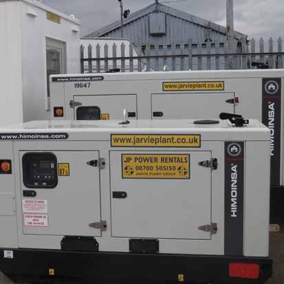 46 Power & Lighting Generators From small portable generators to power small tools onsite to large