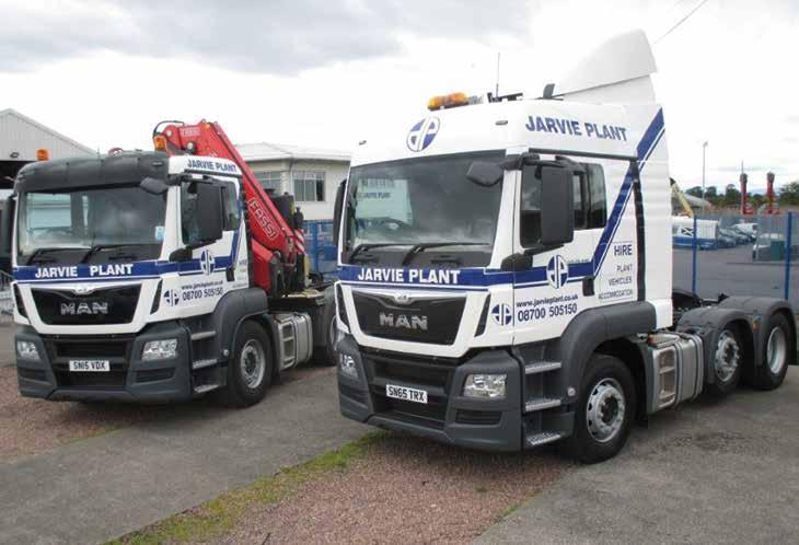 65 ransport arvie lant operate a fleet of 15 Heavy oods ehicles to service the delivery and collection of hired equipment. lso available for operated hire for contract moves and transport.