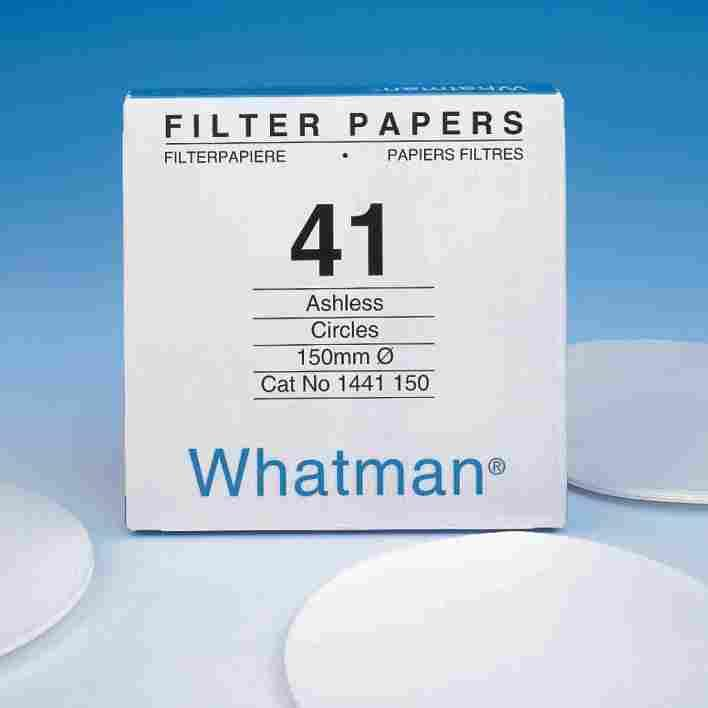 Filter Papers & Membranes Cellulose filter papers Quantitative Filter Papers Ashless Grades 0.007% ash maximum for Grades 40 to 44 and a maximum of 0.
