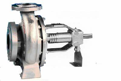 pump from the drive end APPLICATION Volute pumps of the series ZTN have been specially developed for handling of mineral and synthetic heat transfer oils.