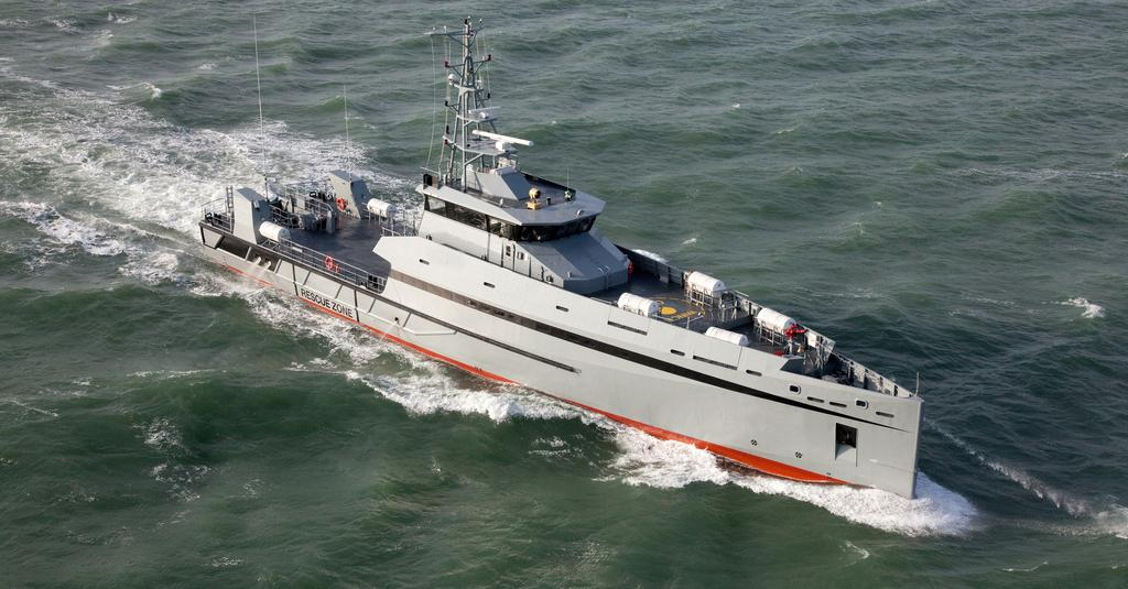 Based on the proven Damen Stan Patrol 5009, the Metal Shark 165 Defiant (shown) is a capable patrol vessel featuring Sea Axe technology that combines greatly enhanced efficiency with unsurpassed