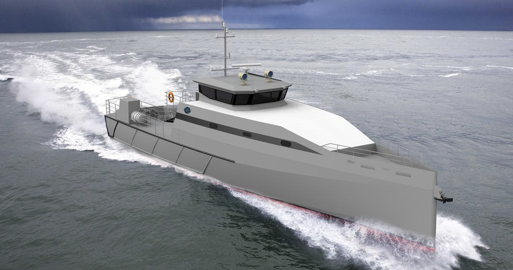 The all-aluminum Metal Shark 100 Defiant is based on the state-ofthe-art Damen Stan Patrol 3007.