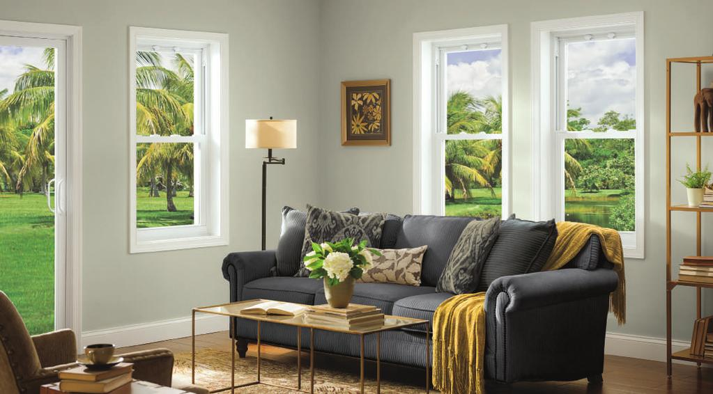 Double-Hung & Single-Hung Windows PRODUCT COMPARISON CHART 70 SERIES DOUBLE-HUNG 70 SERIES SINGLE-HUNG 50 SERIES SINGLE-HUNG LOW-MAINTENANCE VINYL NEVER NEEDS PAINTING EASY-TO-CLEAN TILT-IN SASH Top