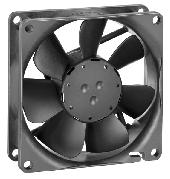 1 General Fan type Rotational direction looking at rotor Airflow direction Bearing system Mounting position Fan counterclockwise Air outlet over struts Sleeve bearing any 2 Mechanics 2.