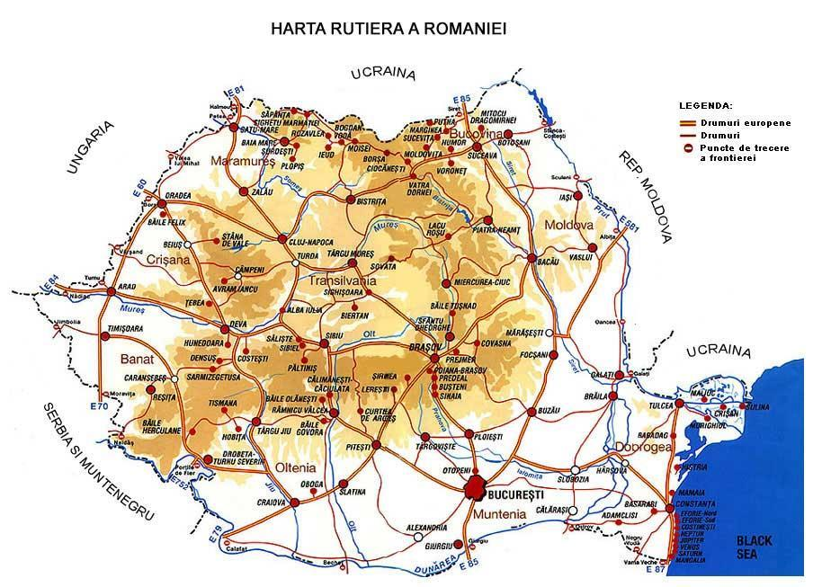 ROAD NETWORK TOTAL 198.658 km: ROMANIA Motorways National roads Country roads Communal roads 732 km; 15.934 km; 34.668 km; 27.781 km. Surface = 238.391 km² Population = 19.760.