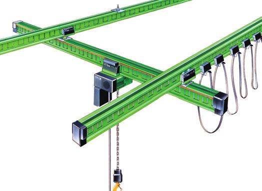 KT 2000 _ flexible range of applications 1 Single-girder suspension crane > High-capacity _ designed for maximum working loads up to 1,000 kg > Flexible _ easily extendable as no welding necessary >