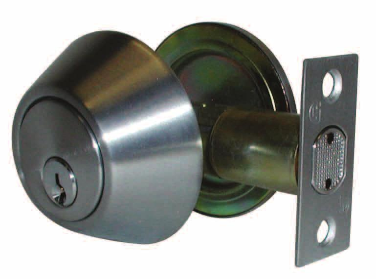 Grade 3 D360 Series Residential Deadbolt APPLICATIONS: The D360 is a light-duty commercial and highend residential deadbolt suitable for interior and exterior doors of office buildings, hotel /