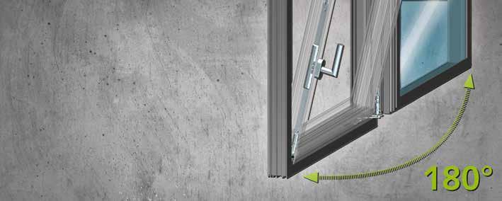 Concealed but completely open Turn-Tilt Fitting Style 180 QM RC Aesthetics and functionality A concealed hinge side with no concession to comfort or