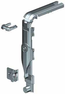 Assembly times are considerably reduced thanks to screw-free mounting of the corner drive, which is easily mounted using a safety clip.