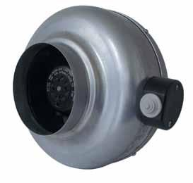 IN-LINE CENTRIFUGAL DUCT FANS VT Series DESCRIPTION The VT series of circular in-line duct centrifugal fans consists of model variations within nominal model sizes of,,,,, and mm respectively.