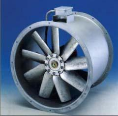 reinforced polypropylene (option al die-cast aluminium blade available) Blade hub in die-cast aluminium Class F motor insulation Suitable for operation in air temperatures between -10ºC and +60ºC