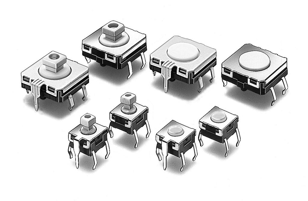 Tactile Switch BW Tactile Switch with Sealed Construction for Automatic Soldering Sealed construction conforming to IP67 (IEC-6059) provides high reliability in locations exposed to dust or water.