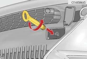 The eyelet has right-hand threads so it screws into the vehicle clockwise. It fits the receiver in both the front and rear bumpers.