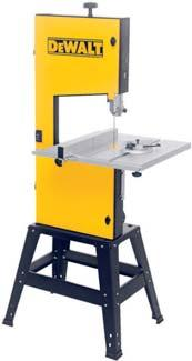BANDSAWS / PLANER THICKNESSER 155 mm Variable Speed Bandsaw DW739* High quality, rigid, cast aluminium construction suitable for wood, non-ferrous metal, foam, composites and plastics applications