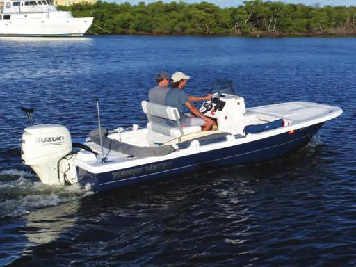 white or black Stern eyes: Heavy-duty 316 grade stainless steel (2) CONSOLE AND HELM LOA 16 10 BEAM 5 10 HULL NET WEIGHT 925 LBS DRAFT 9 Center console: With molded front seat and cushion set All