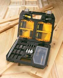 DRILLING SETS MODULAR ACCESSORY CASES Made from tough, heavy-duty plastic, the full size modular accessory case can carry a very large selection of accessory items as well as providing plenty of