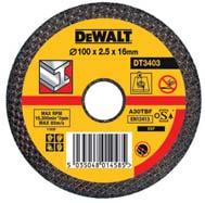 BONDED ABRASIVES METAL CUTTING DISCS Cutting ferrous metals such as steel, iron, rebar and welds. Professional grade aluminium oxide. Premium resin bond. Reinforced fibre glass. FLAT Cat. No.