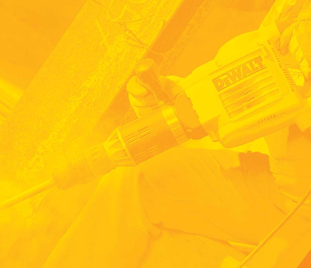 SERVICE TOTAL SERVICE IS THE HAMMER PROTECTION PLAN THAT OFFERS COMPLETE PEACE OF MIND WITH NO UNEXPECTED SERVICE COSTS If your hammer drill breaks down simply deliver it to any authorised DEWALT