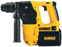24V / 18V 24 Volt Heavy Duty SDS-Plus 3 Mode Quick Change Chuck Dedicated Cordless Hammer DC224KA/ DC224KB* Ideal for drilling anchors and fixing holes into concrete, brick and masonry from 4 mm to