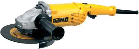 230mm ANGLE GRINDERS 2200 W - 230 mm Angle Grinder D28492/ D28492K* Abrasion protected motor for increased durability Two position side handle allows the user to optimise handle postion to give