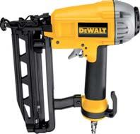 8 kg *D51856 not available in the UK Coil framing Nailer D51855* Optimized power design, generates power for the toughest applications and delivers less air consumption Unique engine design generates