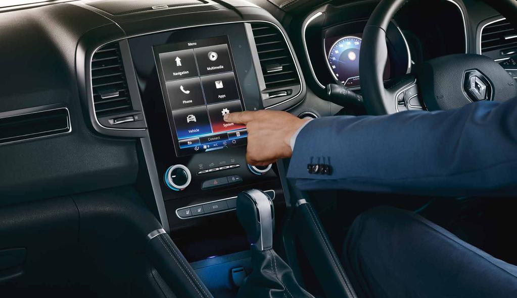 "Intuitive technology Central to the All-New Renault Koleos technology is an 8.7"" portrait touchscreen * - one of the largest in its class."