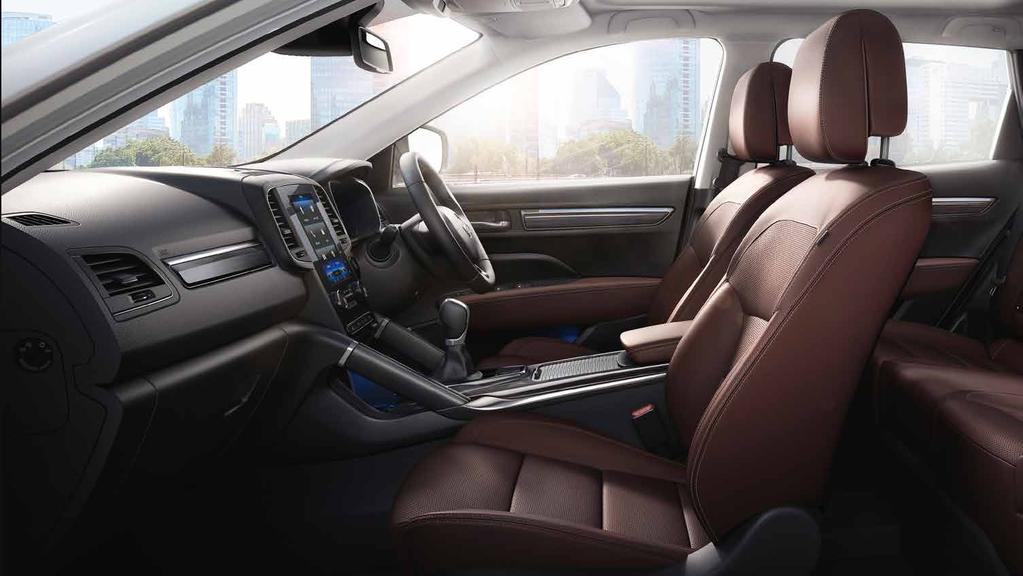 Every aspect of comfort All-New Renault Koleos is ambitious just like you, and takes every aspect of you and your passengers comfort into account, offering them more generous legroom.
