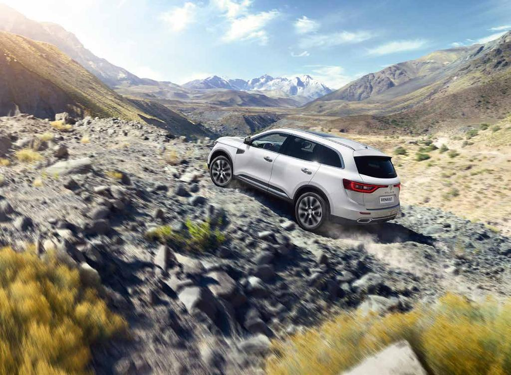 Rise to every challenge Behind its chic urban styling, All-New Renault Koleos has the DNA of a true 4X4.