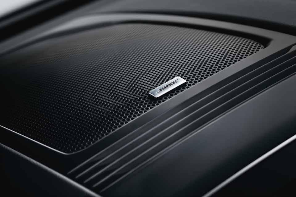 BOSE Sound System Explore new sounds Delivering deep bass and treble frequencies for a realistic sound experience, the BOSE sound system * turns the cabin of your All-New Renault Koleos into a