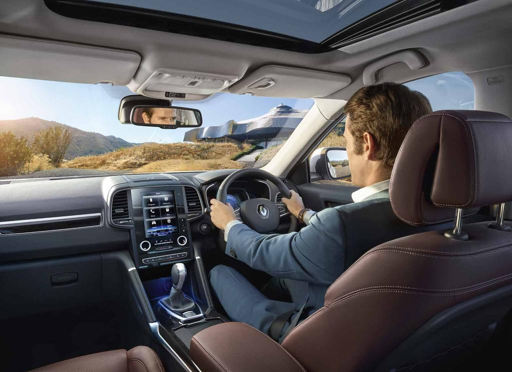 Take a seat Renault s meticulous design philosophy and attention to detail applies to every aspect of All-New Renault Koleos, including the cabin.