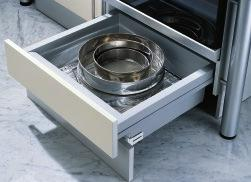 GRASS STUDIO DWD-XP UNDER OVEN DRAWER 548 422 Drawer front adjustment 3 mm 2.