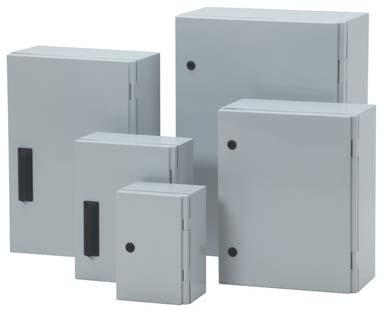 70 433.53 Enclosures complete with Plexiglass doors also available. Above prices do not include Mounting Plate. Key, Square and Triangular Locks on request.