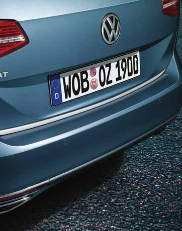 195 02 Volkswagen Genuine Aluminium sill protection plates The high-quality aluminium sill protectors with Passat lettering not only protect the heavily