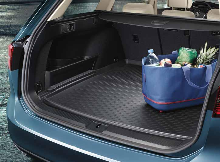 01 02 03 01 Volkswagen Genuine Luggage compartment liner Precise protection in a light and flexible form: the anti-slip liner is designed to perfectly fit the shape of the luggage compartment and to