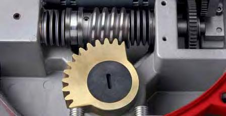 The worm gear and Output Shaft I (I) are one part. The output shaft is the driving member that positions the valve.