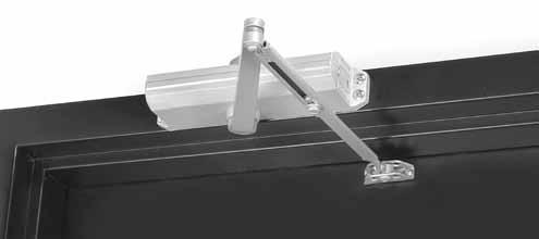 Applications Regular Arm This is the only pull-side application where a double lever arm is used. It is the most power-efficient application for a door closer.