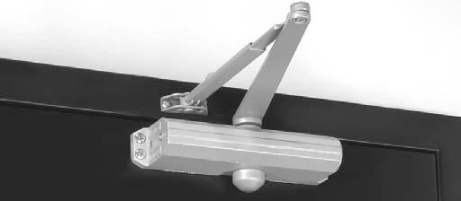 APPLICATIONS Parallel arm shown Uni Stop Arm Can be used for either parallel arm or top jamb applications.