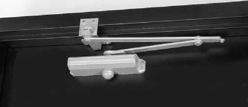 Specify depth of reveal when using top jamb mounting. Top jamb shown Low Profile Arm Supplied with 250BC, 251(BF) series door closers for non-hold open installations only.