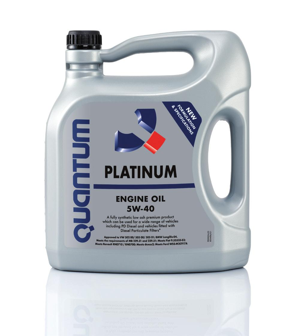 Platinum 5W-40 (New formulation and specifications) A new formulation of this fully synthetic low ash premium product, which can now be used for an even wider range of vehicles: Low ash formulation